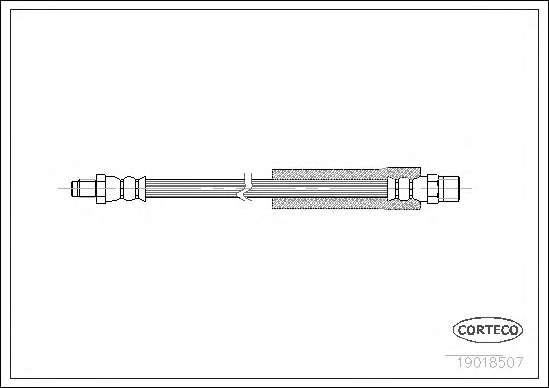 Шланг гальмівний,  BMW 3 E30, 5,7 E60-E67