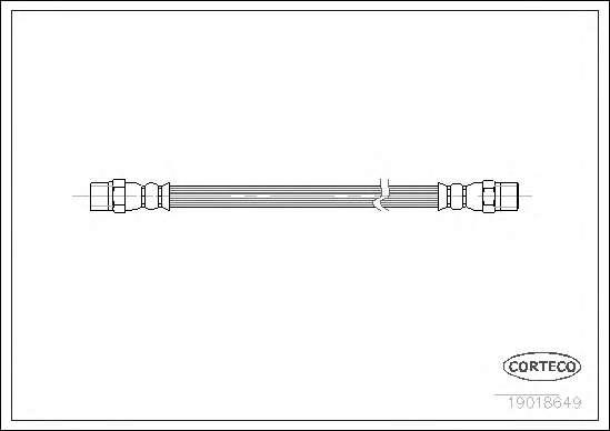Шланг гальмівний, передній, DB207-814