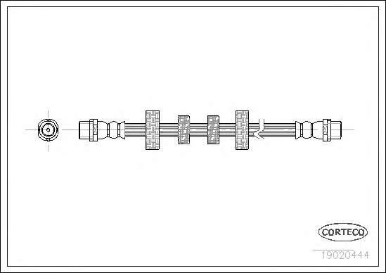 Шланг гальмівний, передній, T4 90-03