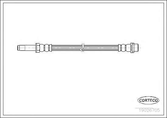 Шланг гальмівний, передній = задний, 95-06